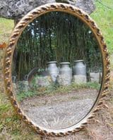 Oval Gilt Framed Hanging Wall Mirror